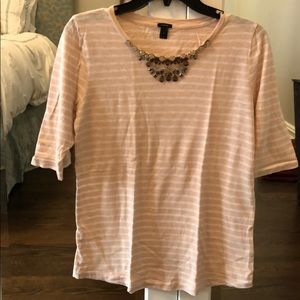 Striped J.Crew t-shirt with jeweled detailing